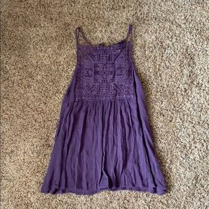 Francesca's Vintage Purple Tank Top (small)